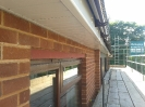 Brown guttering & Soffit